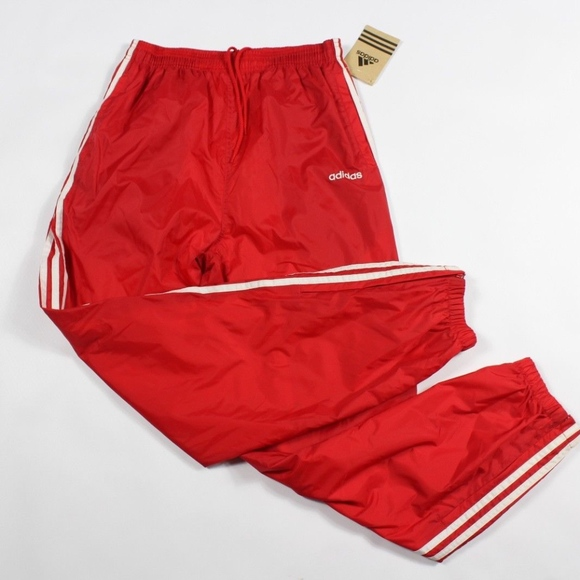 659e6f4887ced adidas Pants | Vintage New Spell Out Nylon Joggers Red Men | Poshmark
